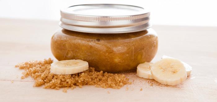 Рецепт сахарного скраба с бананом своими руками