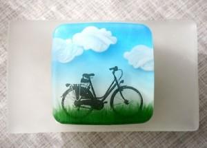 мыло с картинкой велосипед