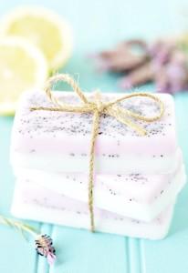 лавандово лимонное мыло с семенами мака