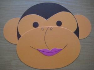 готовая заготовка морда обезьяны