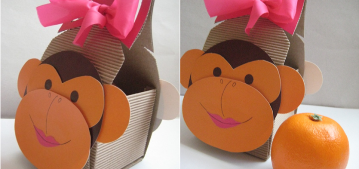 Обезьяна обезьянка из картона своими руками шаблон
