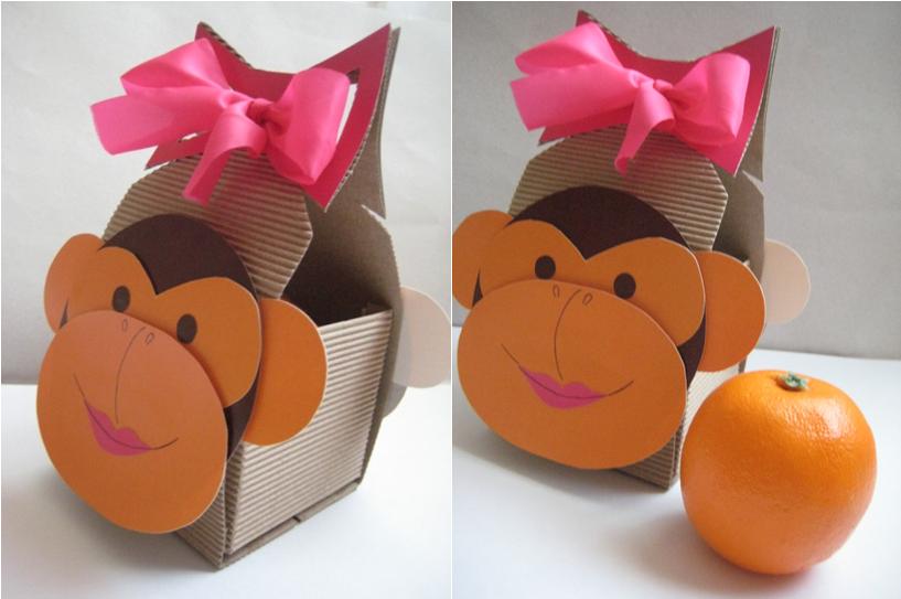 Упаковка – сумочка обезьянка