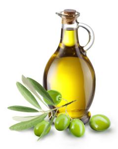 масло оливковое масло на белом фоне