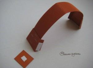 ручка для самодельной упаковки для мыла из картона