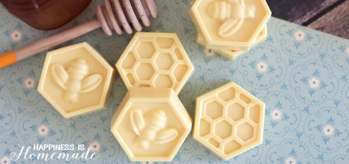 медовое мыло из основы с натуральным медом