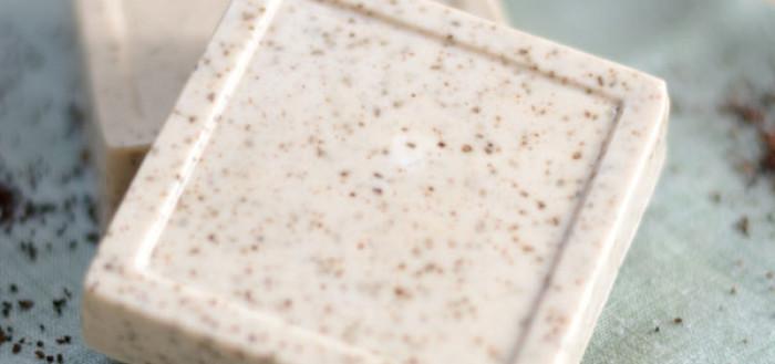 Мыло из основы кофейно-ванильное