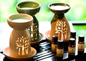 глиняная ароматическая лампа