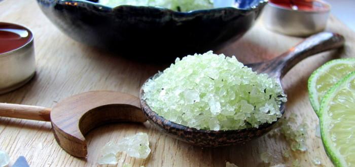 мятная морская соль для ног