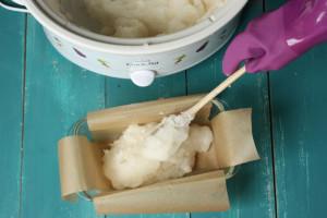 как выложить мыло с нуля горячим способом в форму