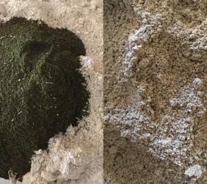 порошок овсянка и травы