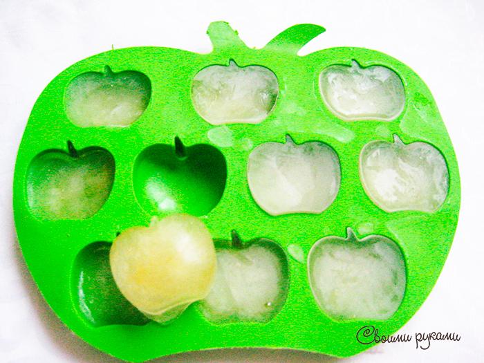 Кубики льда из ромашки