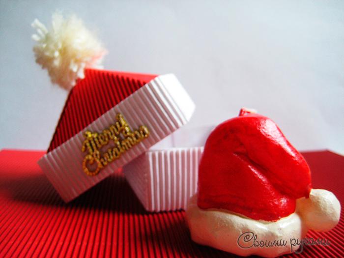 Новогодняя коробка для конфет своими руками