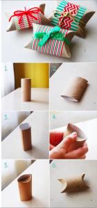 красивая упаковка из цилиндров от туалетной бумаги
