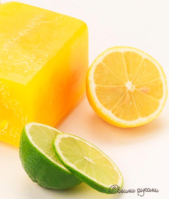 Лимонное мыло с нуля