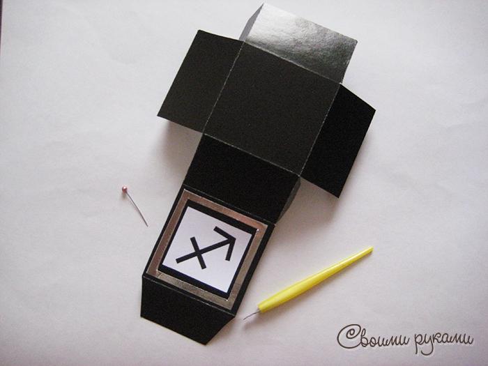 Коробочка со знаком зодиака Стрелец