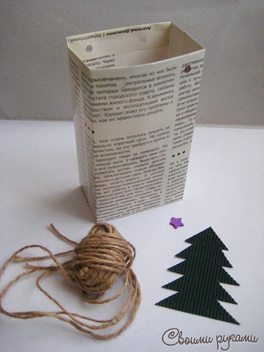 Шаблон бумажного пакета