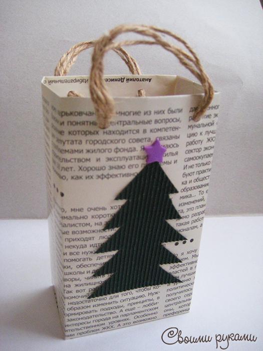 Пакет для подарка своими руками