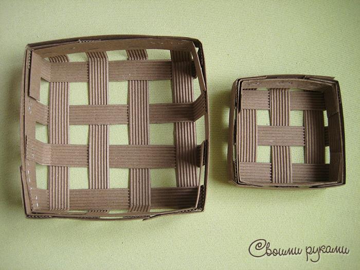 Коробочки из гофрокартона