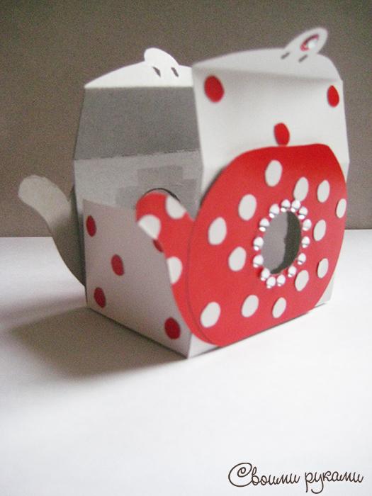 Шаблон коробок-чайник