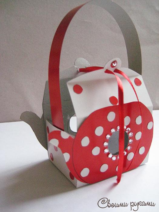Коробка чайник для сладостей