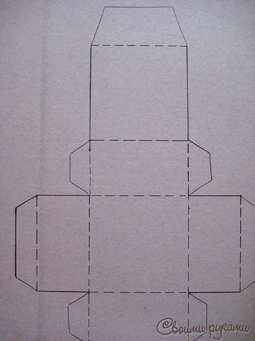 Шаблон из картона для упаковки мыла
