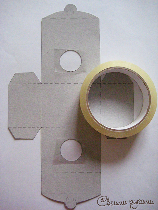 Шаблон для изготовления упаковки