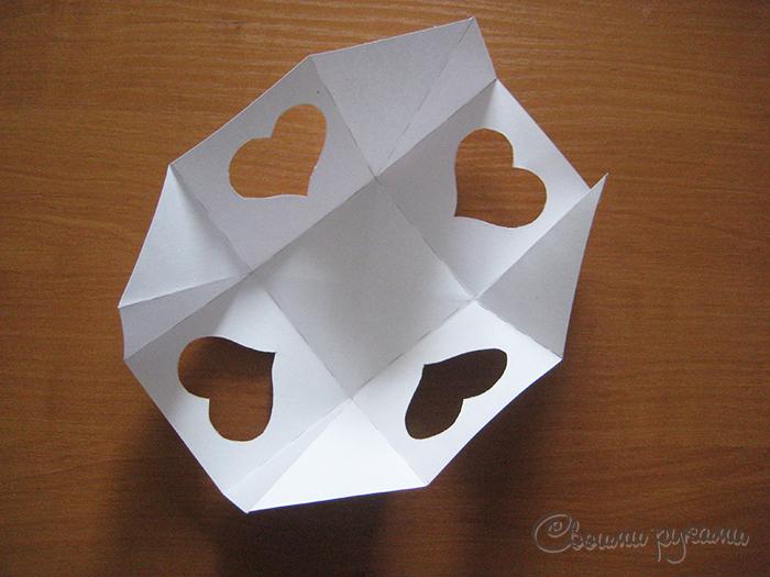 Шаблон коробочки на День Влюбленных