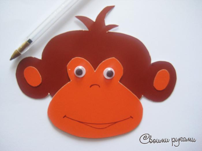 Как сделать обезьянку из бумаги