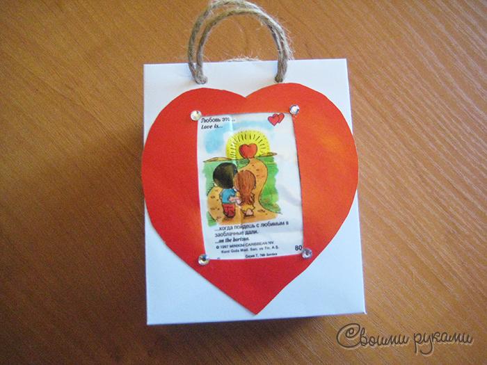 Шаблон сумочки для подарков