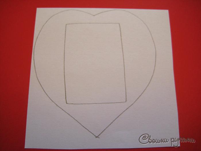 Упаковка в виде сердца шаблон